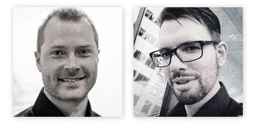 Portrettbilde av Daniel Mohn-Rehnaas og Tobias Michel