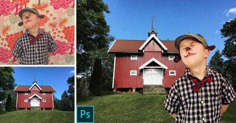 Illustrasjonsbilde viser et eksempel på en oppgave i Photoshopkurset hos IGM